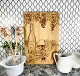 Octopus mosaic bamboo custom engraved cutting board