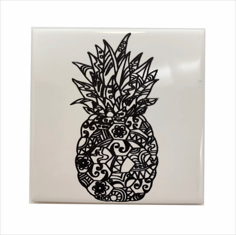 Pineapple ceramic coaster