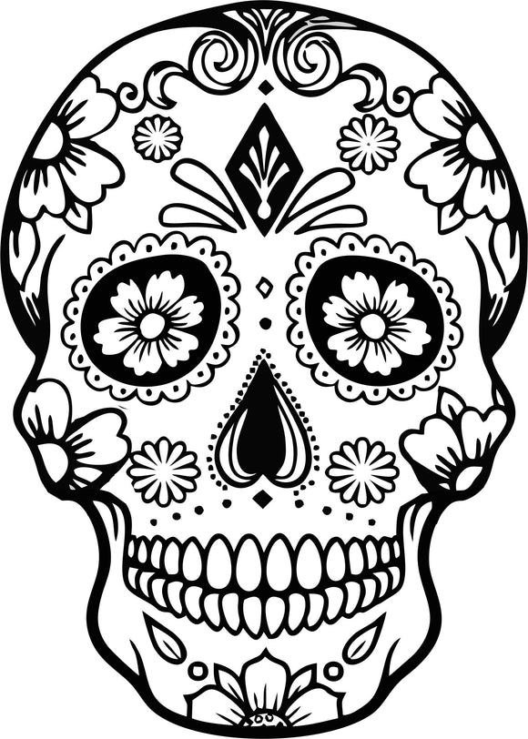 Sugar skull Day of the Dead bamboo custom engraved cutting board