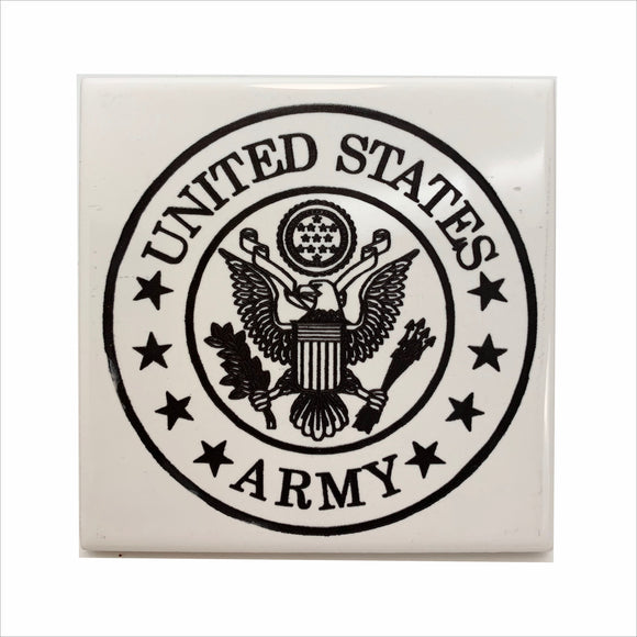 US Army logo ceramic coaster
