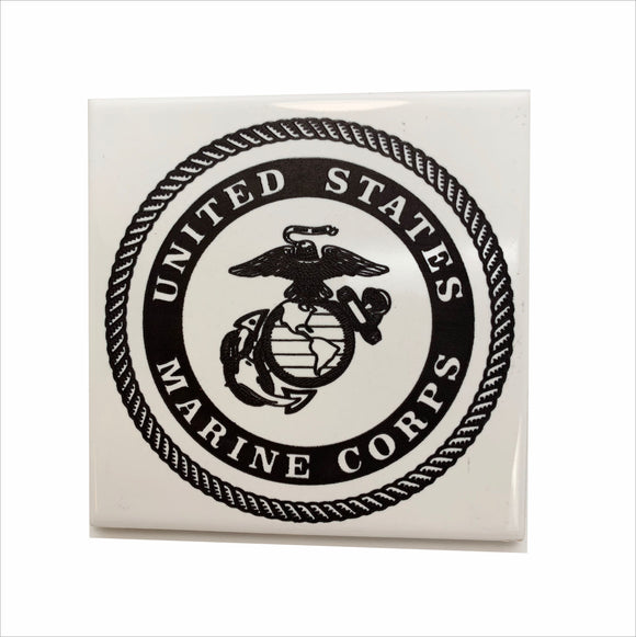 US Marine logo ceramic coaster