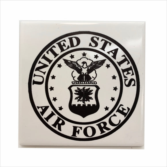 US Air Force logo ceramic coaster