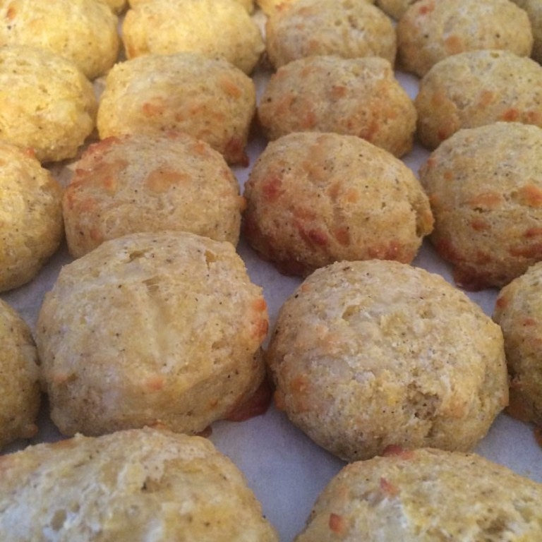 Cornmeal and aged cheddar biscuits - dozen
