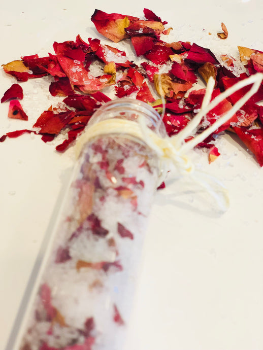 Rose Petal + Vanilla Bath Salts