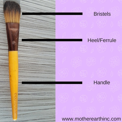 Make Up Brush labled | MotherEarth Inc.