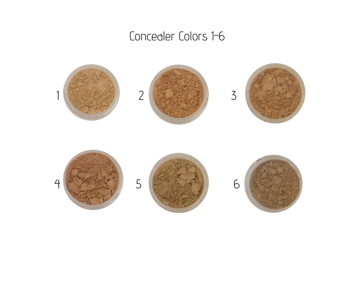 Nontoxic Mineral Makeup | Concealer 1-6 | MotherEarth Inc.