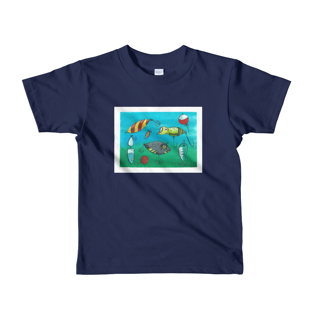 Short sleeve kids t-shirt 'Lure Print