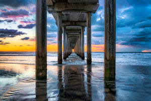 """Color Splash"" - Scripps Pier, La Jolla, CA"