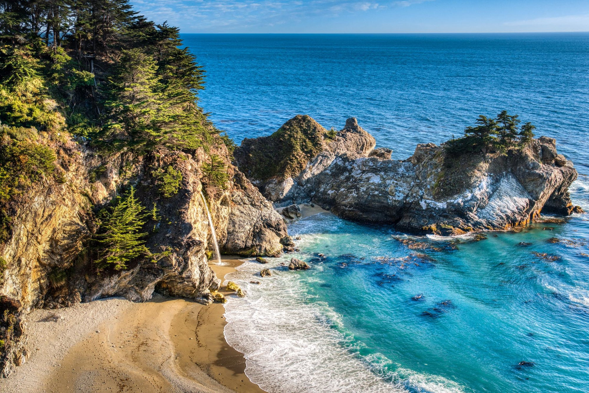 """Turquoise Fountain Drink"" McWay Falls, Big Sur, CA"
