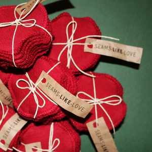 Organic Reusable 'Red Velvet' Cotton Rounds