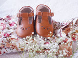 Madeline T-Bar Shoes ~ Brown