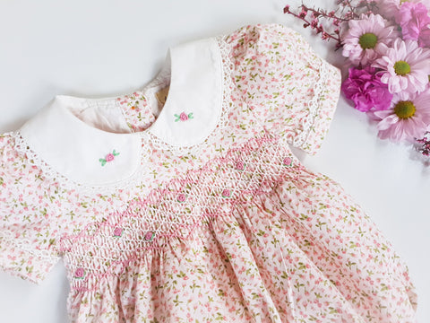 Baby's Breath Smocked Romper