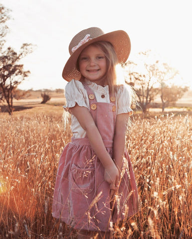 Rose Corduroy Pinafore