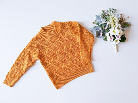 Mustard Cable-Knit Sweater