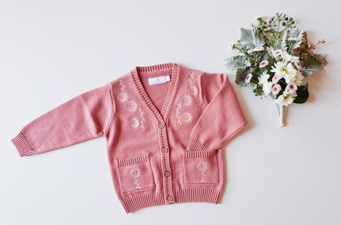 Berry Knitted Cardigan