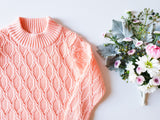 Peach Cable-Knit Sweater