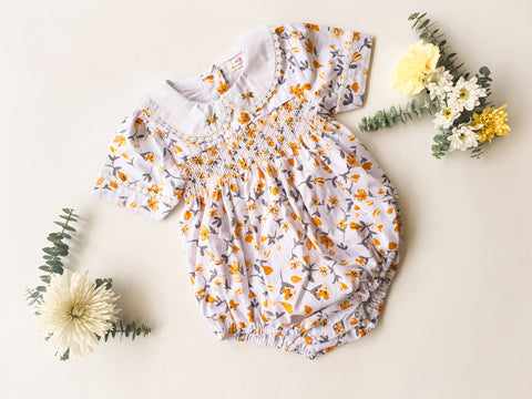 Honeycomb Smocked Romper