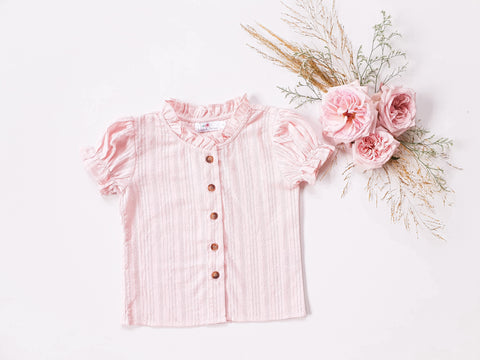 Broderie Blouse ~ Pink