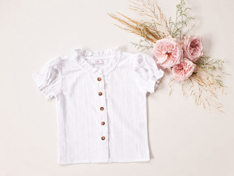 Broderie Blouse ~ White