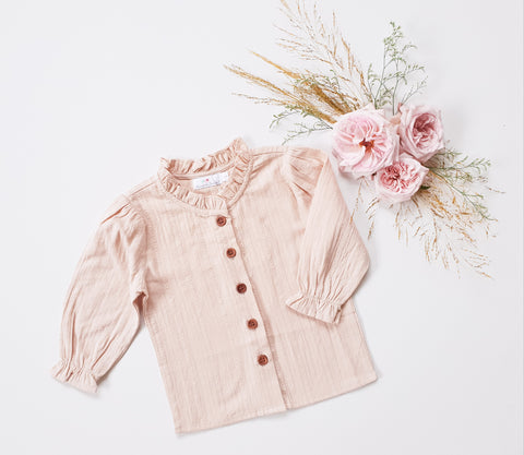 Broderie Blouse Long-Sleeved ~ Oat