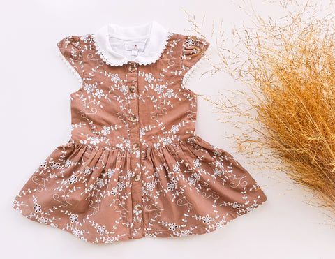 Country Lane Eyelet Dress ~ Chestnut