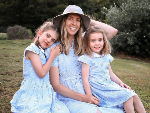 Country Lane Mummy Dress ~ Blue