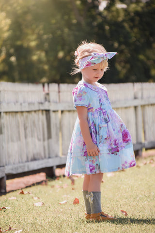 Alice Blue Dress and headwrap