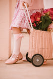 Brogue T-Bar Shoes ~ Rose Pink