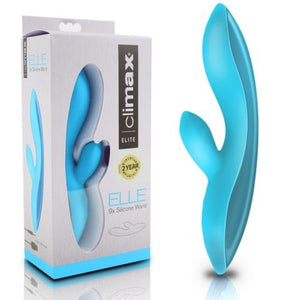 Climax® Elite, ELLE 9x Silicone Wand, Blue - Just for you desires