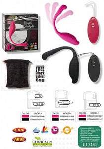 Rechargeable & Remote Control Couple's Delight - Black****