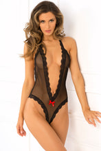 Open Back Lace & Net Teddy