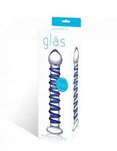 Blue Spiral Glass Dildo - Just for you desires