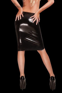 Saxenfelt Latex Midi Skirt - Just for you desires