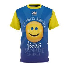 Sunrise Happy Unisex AOP Cut & Sew Tee