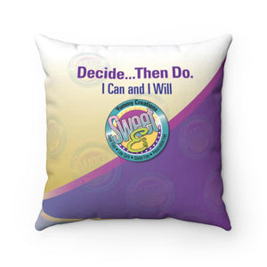 SweetEs Spun Polyester Square Pillow