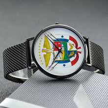 Panama Escudo Casual Stainless Steel Band 30 Meters Waterproof Quartz Fashion Watch