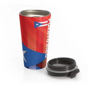 Puerto Rico Stainless Steel Travel Mug