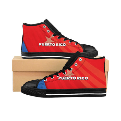 Puerto Rico Men's High-top Black Sneakers