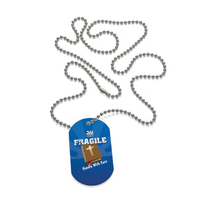 Sunrise Fragile Dog Tag