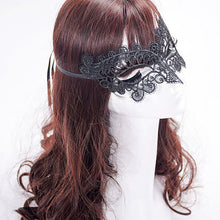 Masquerade Lace Mask Catwoman Halloween Black XU1