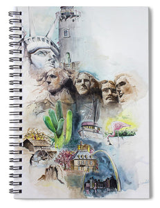 Across America - Spiral Notebook