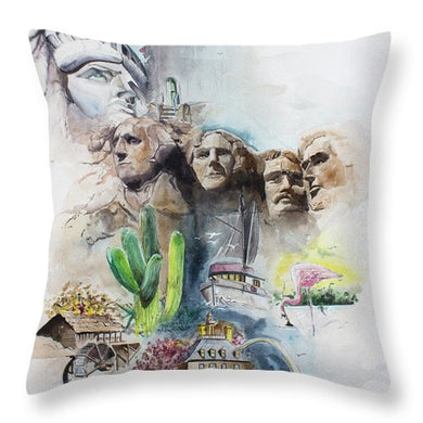 Across America - Throw Pillow