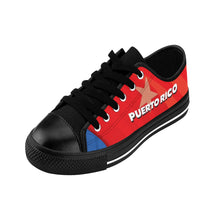 Puerto Rico Men's Black Sneakers