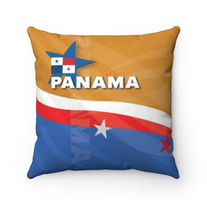 Panama Gold Spun Polyester Square Pillow