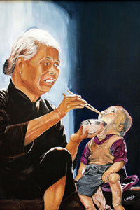 Chinese Feeding - Art Print