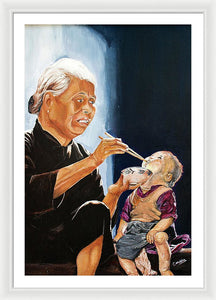 Chinese Feeding - Framed Print