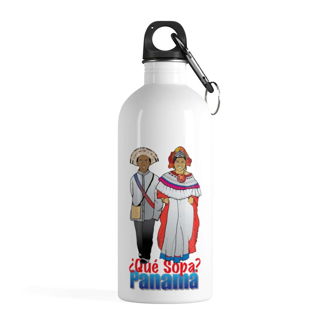 Panama Que Sopa Stainless Steel Water Bottle