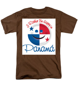 I Rather Be Happy In Panama - Men's T-Shirt  (Regular Fit)