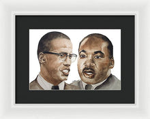 Malcom And Martin - Framed Print