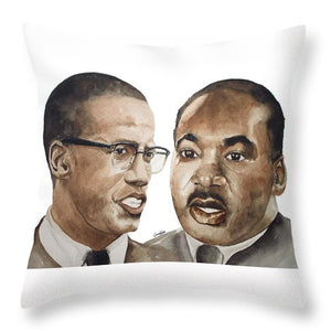 Malcom And Martin - Throw Pillow